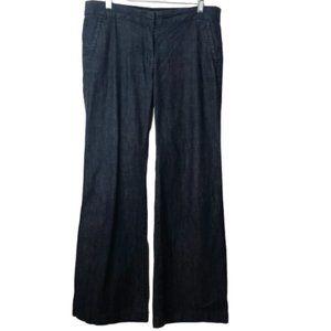 J Crew Favorite Fit Pants Wide Legs  Dark Blue 8